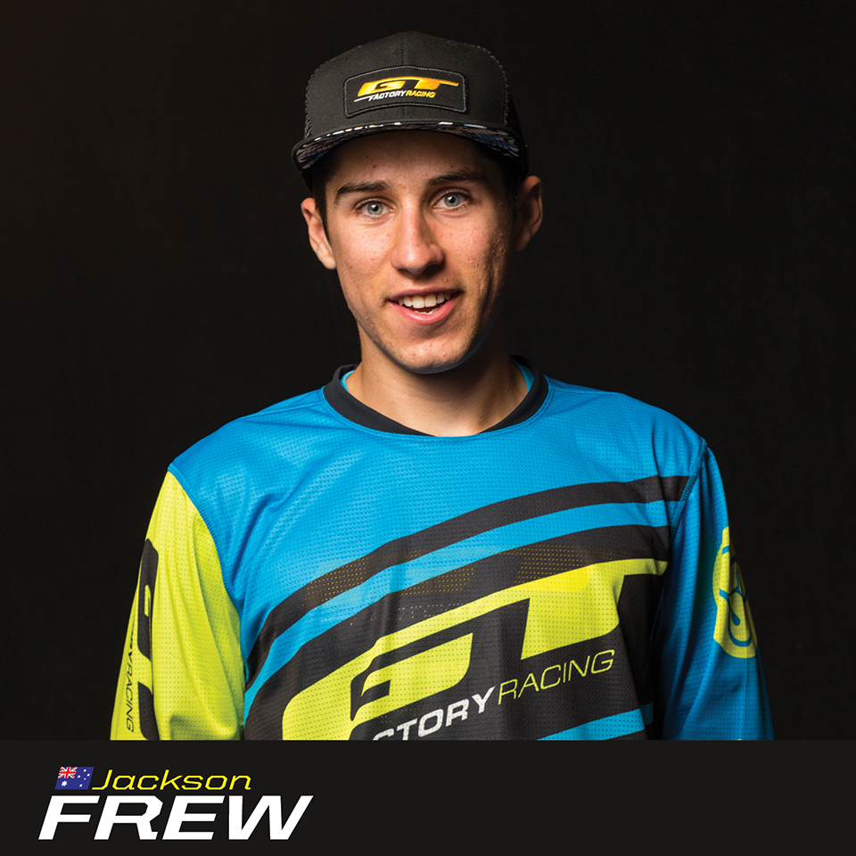 GT Factory Racer Jackson Frew, sponsored by Sombrio