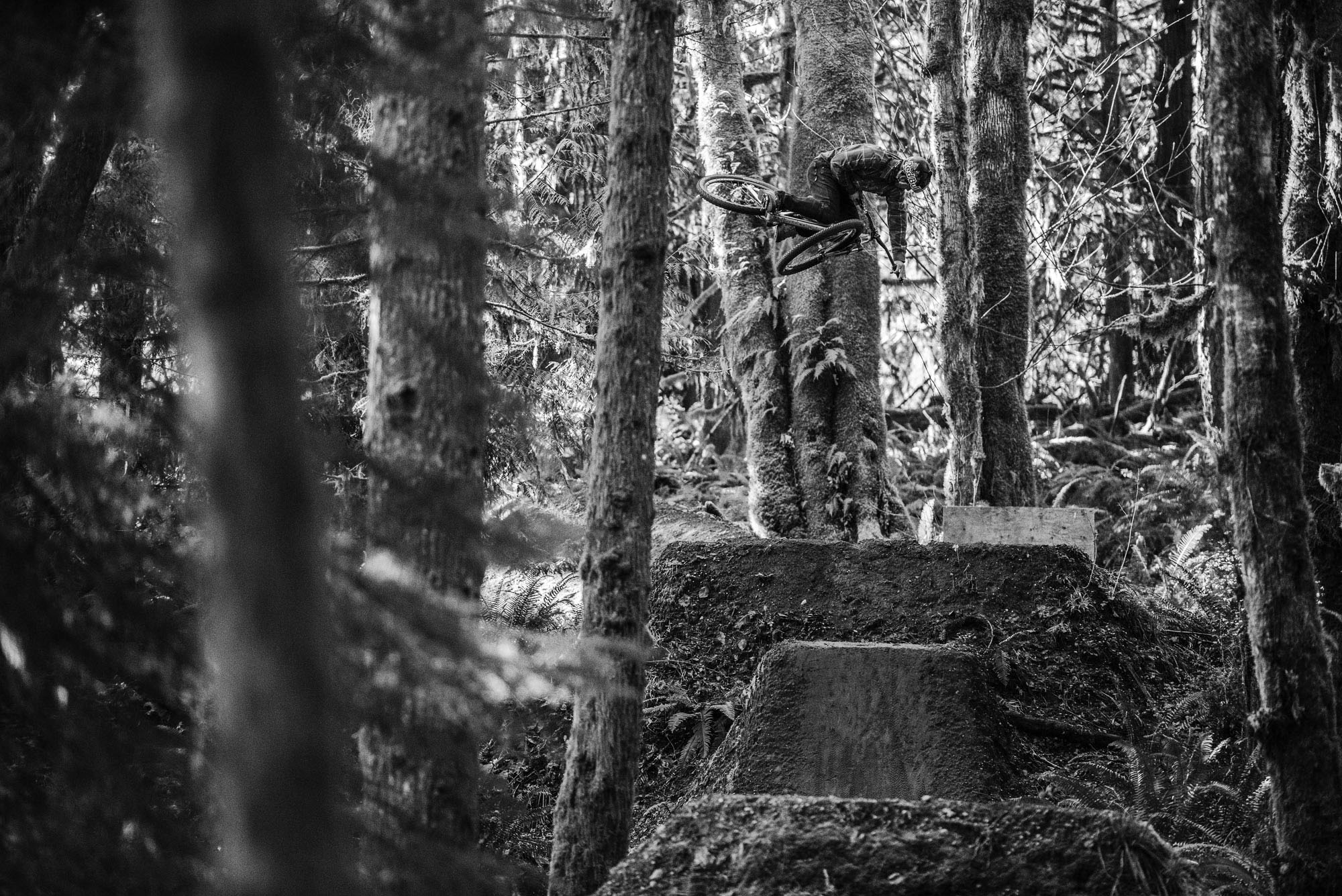 Sombrio Athlete Darren Berrecloth on his jumps near Nanaimo, BC by Margus Riga