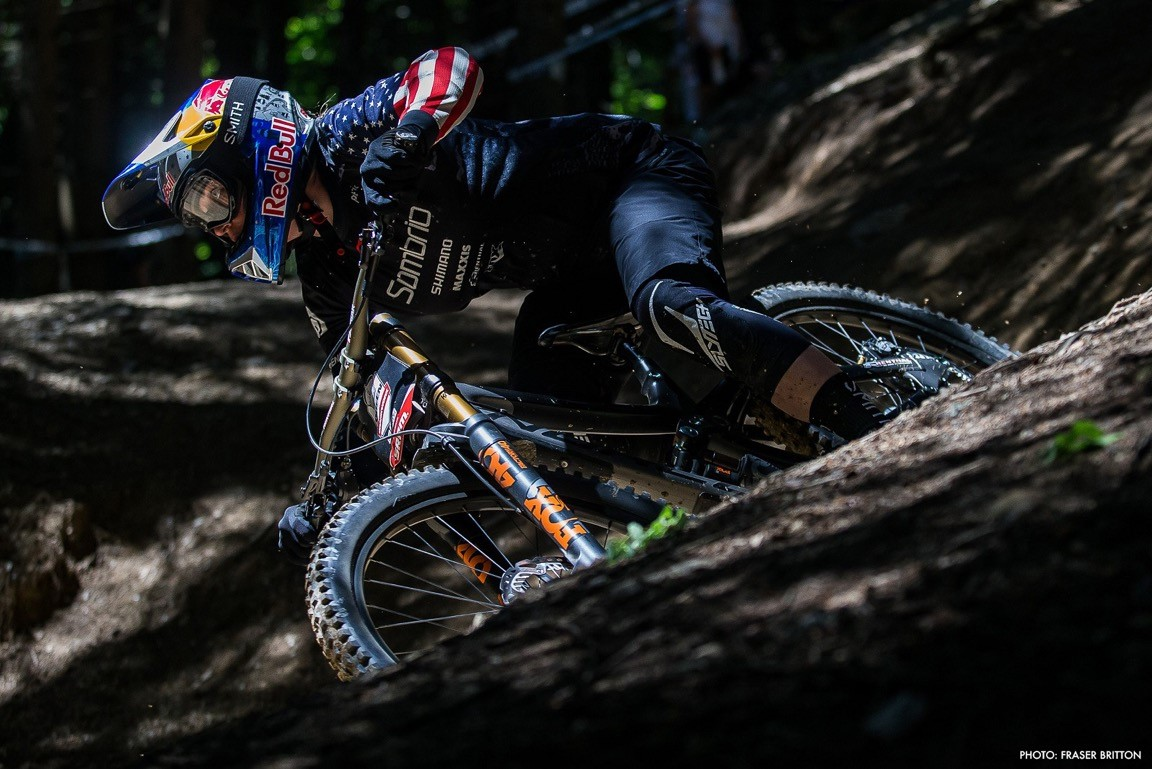 Jill Kintner at the Air Downhill event, Crankworx les Getz 2017