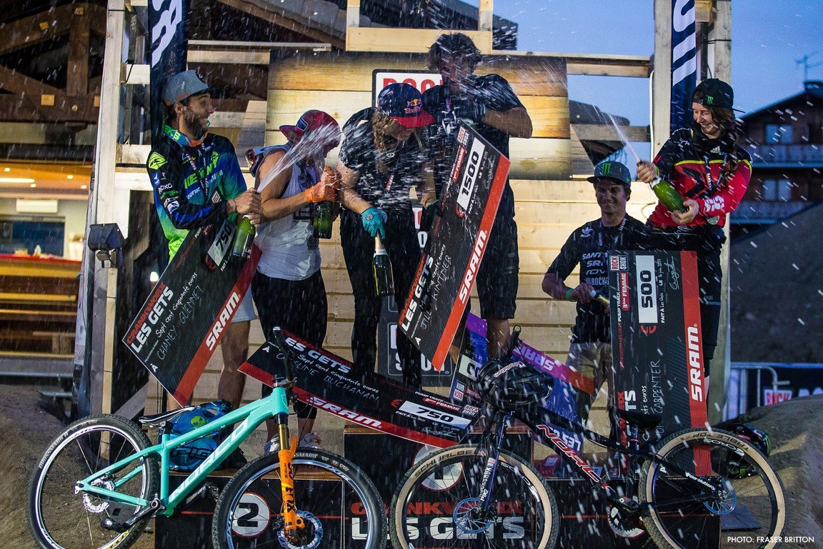 Jill Kintner takes the Pumptrack event at Crankworx Les Gets 2017